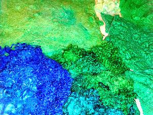 Почти из ничего - конфетка! (сказ о покраске материалов для валяния и смене настроения) | Ярмарка Мастеров - ручная работа, handmade