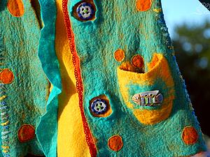 Цельноваляные заплатки на сваляном полотне.. Ярмарка Мастеров - ручная работа, handmade.