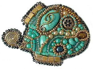 Мастер-класс: Брошь «Рыбка миниатюрная» от Simkha | Ярмарка Мастеров - ручная работа, handmade