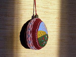 Создание фетровых пасхальных яиц с вышивкой. Ярмарка Мастеров - ручная работа, handmade.