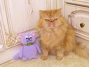 Вязаный кот перс Матвей | Ярмарка Мастеров - ручная работа, handmade