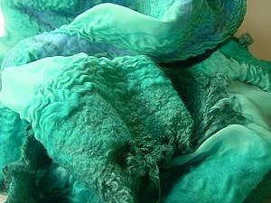 Валяем на шёлке Летний шарфик | Ярмарка Мастеров - ручная работа, handmade