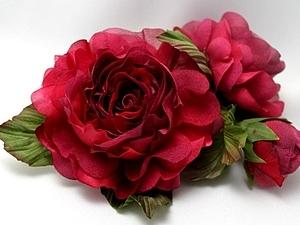 Цветы из шёлка. Мастер-класс.Роза Николь( композиция) | Ярмарка Мастеров - ручная работа, handmade