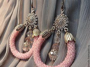 Создаем нежные свадебные серьги «Розовый бриз». Ярмарка Мастеров - ручная работа, handmade.