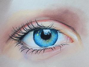 Рисуем глаз пастелью. Ярмарка Мастеров - ручная работа, handmade.
