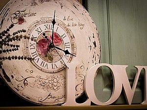 Интерьерные часы в стиле Прованс | Ярмарка Мастеров - ручная работа, handmade