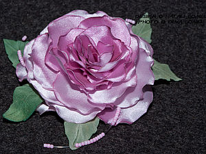 Мастер-класс. Цветы из ткани. Роза