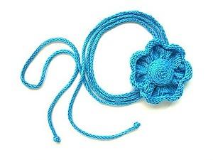 Вяжем спицами украшение «Цветок». Ярмарка Мастеров - ручная работа, handmade.