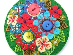 Прекрасные броши из фетра... Для вдохновения:-))))   Ярмарка Мастеров - ручная работа, handmade