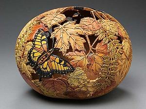 Ажурная резьба по тыквам от Marilyn Sunderland | Ярмарка Мастеров - ручная работа, handmade
