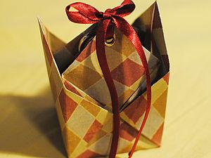 Коробочка-оригами за 10 минут. Ярмарка Мастеров - ручная работа, handmade.