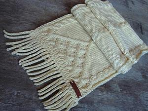 Как связать бахрому для шарфа. Ярмарка Мастеров - ручная работа, handmade.