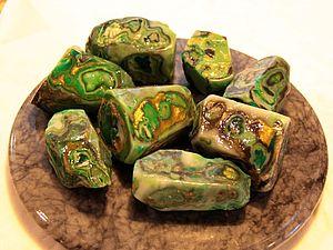Как я делаю камни из мыла. Малахит. | Ярмарка Мастеров - ручная работа, handmade