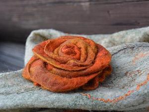 Войлочная роза за 2 часа | Ярмарка Мастеров - ручная работа, handmade