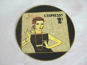 Мастерим подставку под чашечку «Эспрессо». Ярмарка Мастеров - ручная работа, handmade.