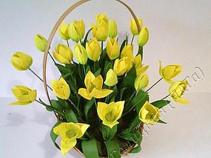 Создаем корзину весенних цветов из фоамирана | Ярмарка Мастеров - ручная работа, handmade