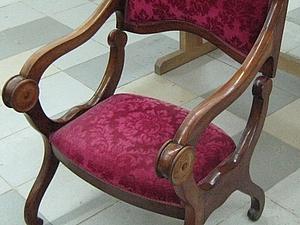 Реставрация мягкого элемента сиденья (Молельное кресло, Франция, конец XIX в.). Ярмарка Мастеров - ручная работа, handmade.