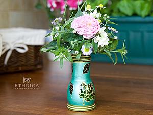 Мини-вазочка из бывшей соусницы. Ярмарка Мастеров - ручная работа, handmade.