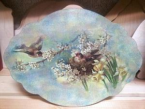 «Дымчатая Вуаль» художественный декупаж, нежные тени акрилом. | Ярмарка Мастеров - ручная работа, handmade