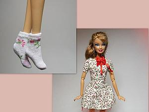 Как сшить носочки и гольфы для кукол. Ярмарка Мастеров - ручная работа, handmade.