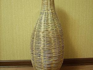 Плетем вазы из ивовой лозы. Ярмарка Мастеров - ручная работа, handmade.