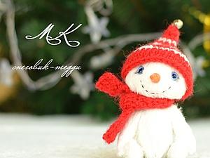 Шьем милого тедди-снеговичка. Ярмарка Мастеров - ручная работа, handmade.