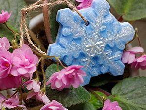 Курс мыловарения для взрослых «Новогодний подарок» Занятие первое: мыло «Снежинка» | Ярмарка Мастеров - ручная работа, handmade