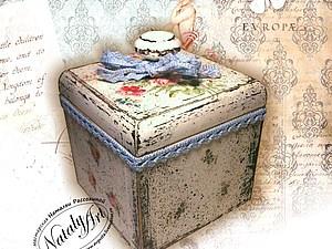 Урок № 2. Декорирование короба/бонбоньерки в стиле шебби-шик | Ярмарка Мастеров - ручная работа, handmade