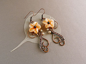 Капельки на проволоке или Wire Wrap для новичков. | Ярмарка Мастеров - ручная работа, handmade