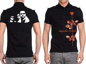 Делаем трафаретный рисунок на футболке: для поклонников Depeche Mode. Ярмарка Мастеров - ручная работа, handmade.