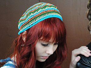 Пестрая шапочка на лето | Ярмарка Мастеров - ручная работа, handmade