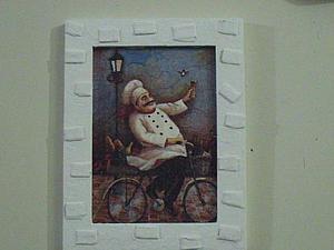 """Картина """"Веселый повар"""". Ярмарка Мастеров - ручная работа, handmade."""