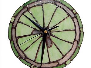 Создание витража в технике Тиффани на примере часов | Ярмарка Мастеров - ручная работа, handmade