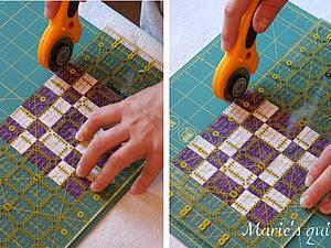 Эффективное использование коврика для лоскутного шитья. Ярмарка Мастеров - ручная работа, handmade.