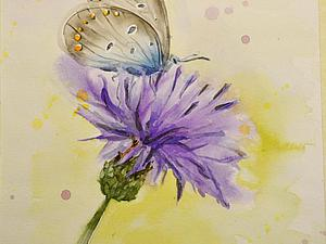 Пишем акварелью картину «Бабочка». Speed painting. Ярмарка Мастеров - ручная работа, handmade.