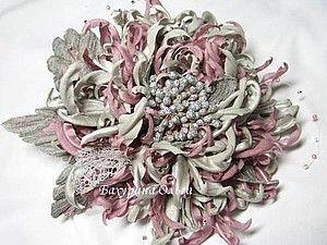 Цветы из ткани .Мастер-класс. | Ярмарка Мастеров - ручная работа, handmade