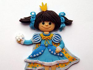 Изготовление детской броши «Принцесса» из полимерной глины. Ярмарка Мастеров - ручная работа, handmade.