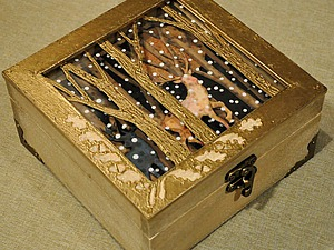 Декорируем шкатулку с двойной крышкой  «Волшебный лес». Ярмарка Мастеров - ручная работа, handmade.