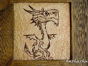 МК  Драконья шкатулка (старим дерево и татуируем фимо). | Ярмарка Мастеров - ручная работа, handmade
