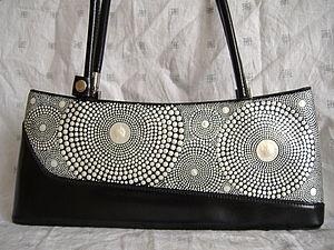 Точечная роспись сумки. Ярмарка Мастеров - ручная работа, handmade.
