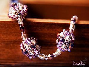 Плетем нежный браслет в фиолетовых оттенках. Ярмарка Мастеров - ручная работа, handmade.