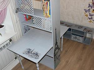 Красим и декорируем деревянный стол-тумбу. Ярмарка Мастеров - ручная работа, handmade.