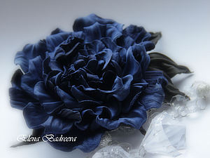 Брошь - роза из натуральной кожи | Ярмарка Мастеров - ручная работа, handmade