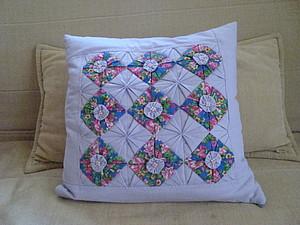 Подушка с элементами оригами | Ярмарка Мастеров - ручная работа, handmade