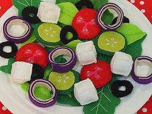 Шьем из фетра развивающую игру «Салат». Ярмарка Мастеров - ручная работа, handmade.