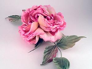 Шелковая флористика. МК Староанглийская Роза   Ярмарка Мастеров - ручная работа, handmade