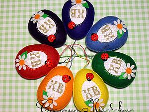 Шьём фетровое пасхальное яйцо с вышивкой. Ярмарка Мастеров - ручная работа, handmade.