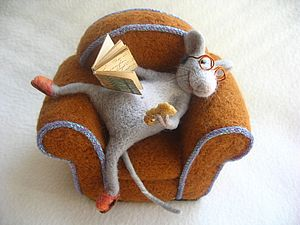 Фотоотчет о прошедшем МК по валянию мыша-домоседа в кресле | Ярмарка Мастеров - ручная работа, handmade