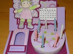 Открытка с тортом по образцу | Ярмарка Мастеров - ручная работа, handmade