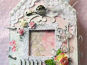 Фотоальбом шебби в форме домика | Ярмарка Мастеров - ручная работа, handmade